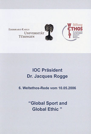Jacques Rogge<br>Global Sport and Global Ethic (2 DVDs)